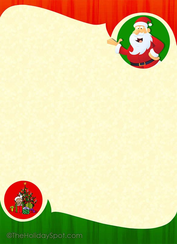 15 Christmas Paper Templates Free Word PDF JPEG Format – Free Christmas Templates for Word