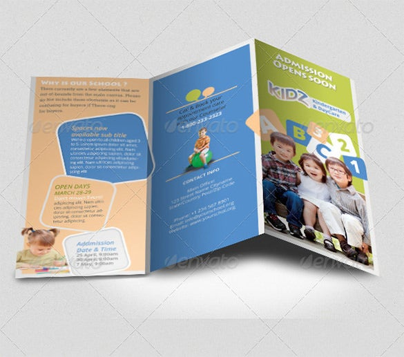 Kindergarten Brochure Templates Free PSD EPS AI InDesign - Brochure template photoshop free