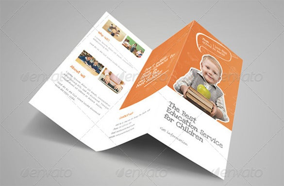 premium education brochure tri fold bi fold