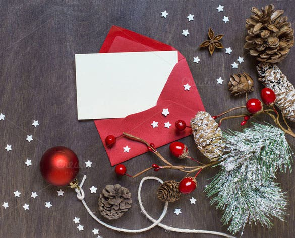 christmas background with envelope jpeg format