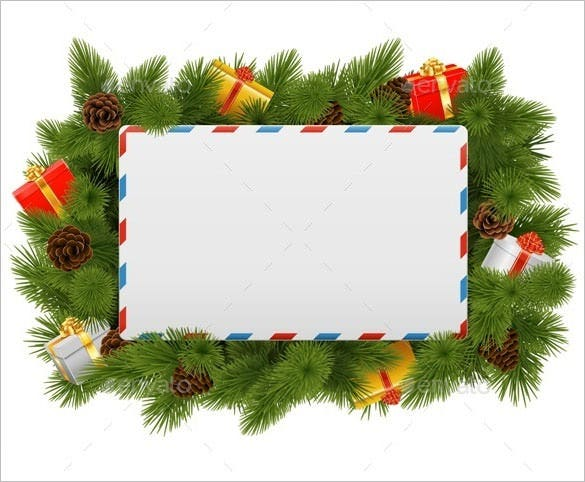 vector christmas postcard envelope download