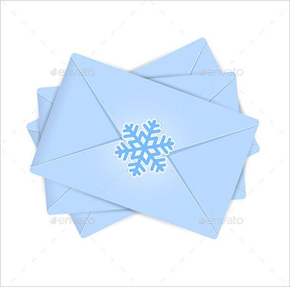 christmas envelopes template eps format download