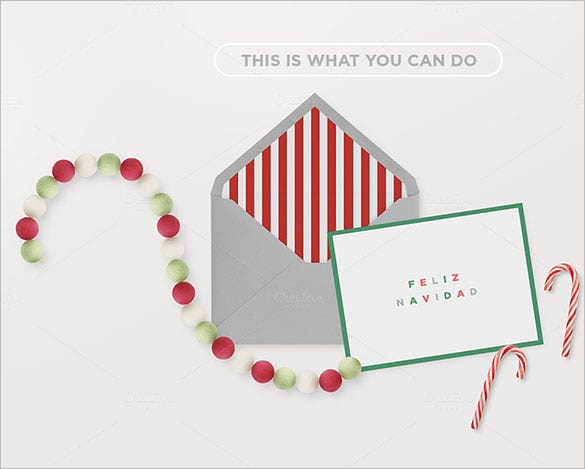 mockup christmas envelope cards template premium