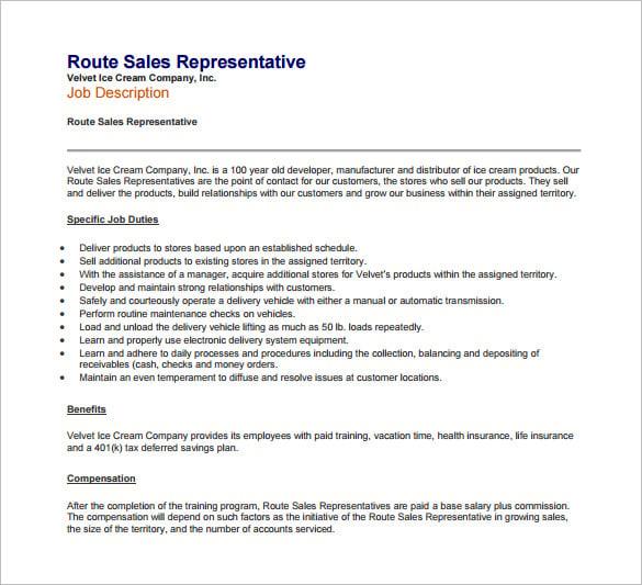 Outside sales representative job description resume : Aware-army.gq
