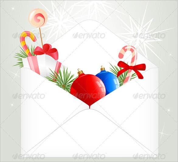christmas envelope template vector eps download