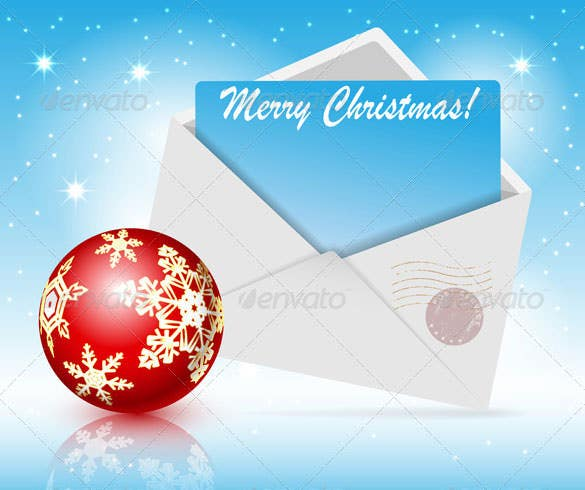 christmas toys and envelope vector eps download