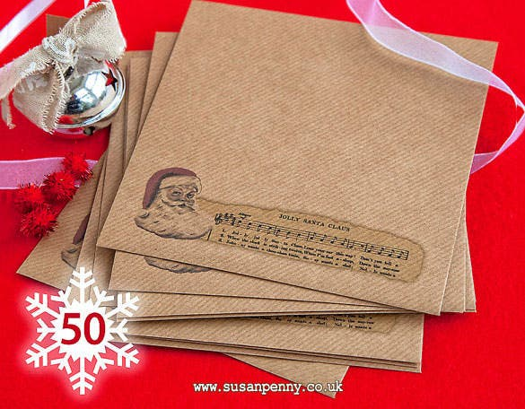 50 jolly santa high quality kraft envelopes download