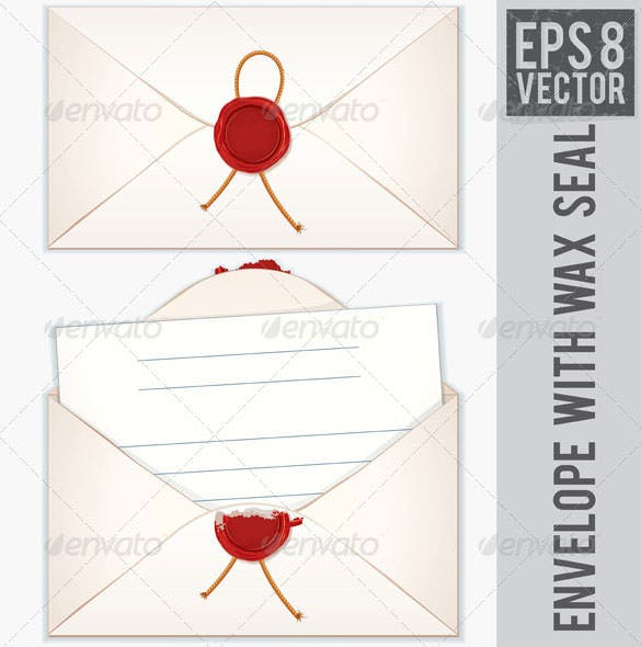 sealed and opened envelope with blank letter download