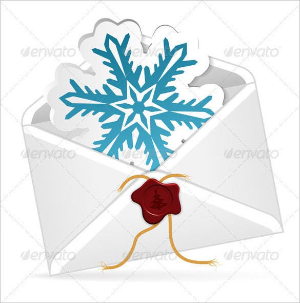 christmas email envelope template eps download