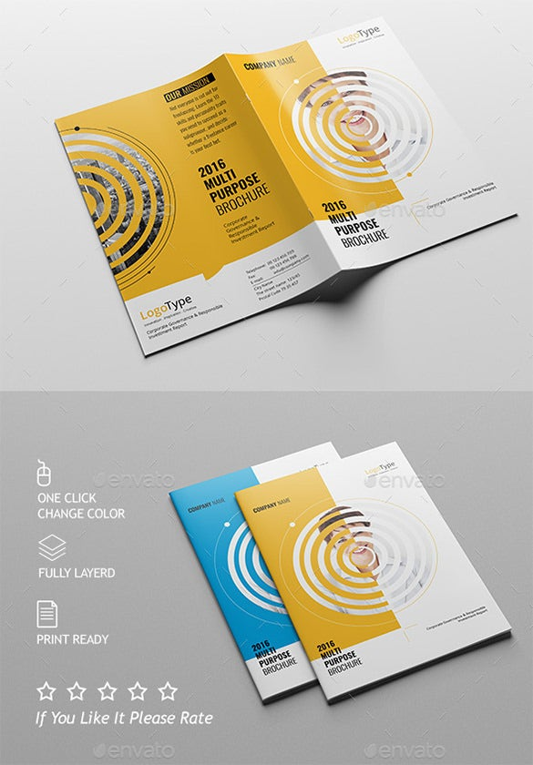 Half Fold Brochure Templates  Free Psd Eps Ai Indesign Word