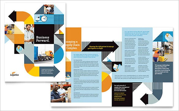 logistics warehousing brochure template