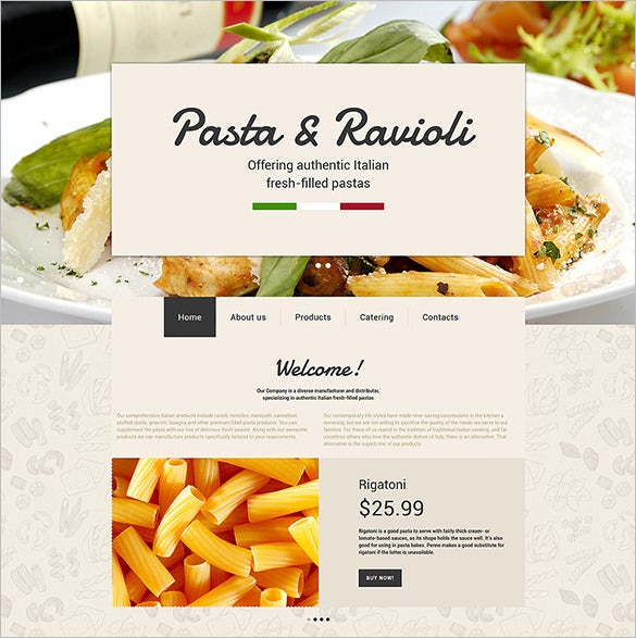 italian restaurant website html5 theme