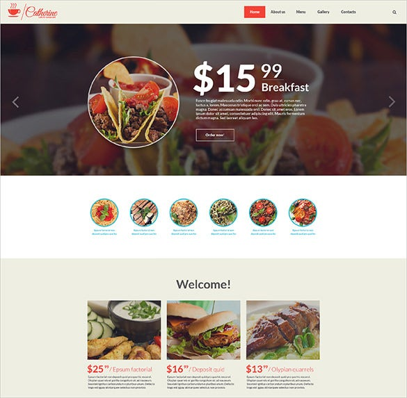 cafe restaurant website html5 template