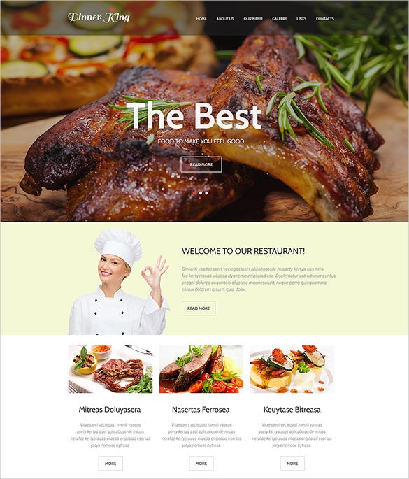 responsive restaurant website html5 template