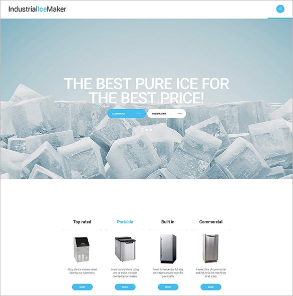industrial ice maker website template