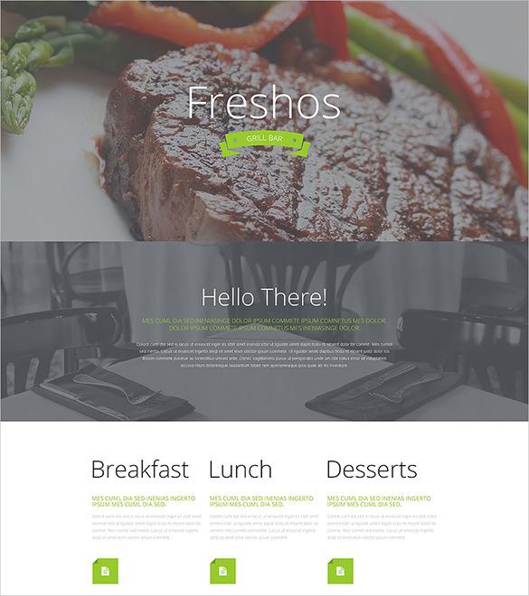 gourmet cuisine wordpress html5 theme