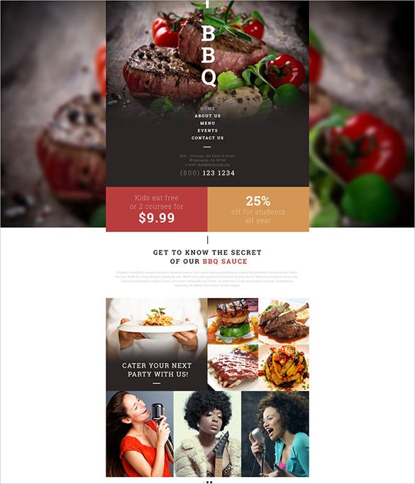 premium restaurant website theme