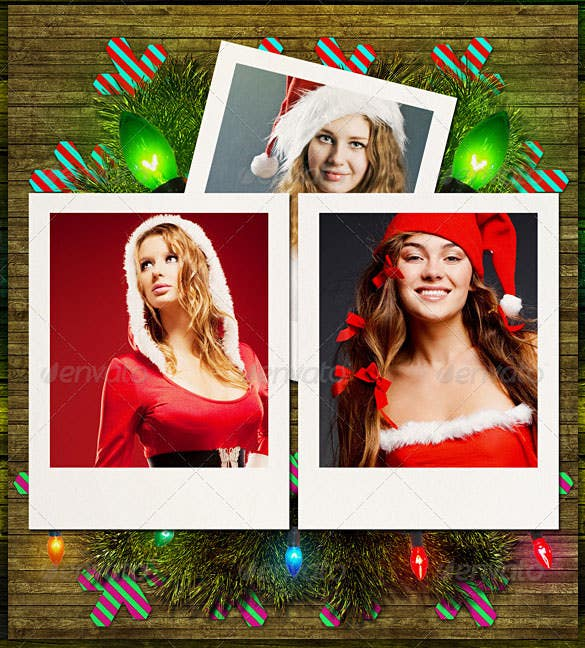 6 christmas photo templates pack psd design
