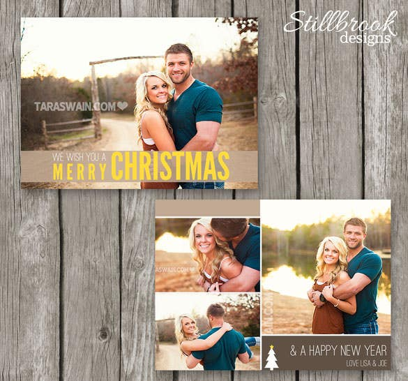 printable christmas photo card template pdf download
