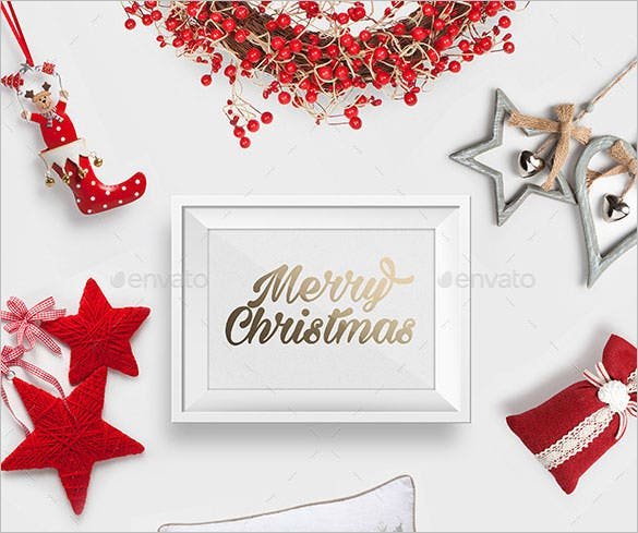 christmas photo headers photoshop psd download