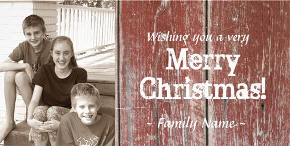 red barn woodphoto christmas photo card