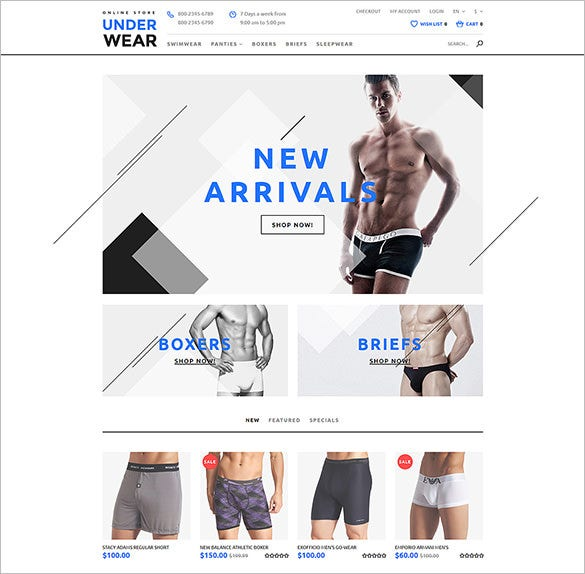 underwear for men blog template