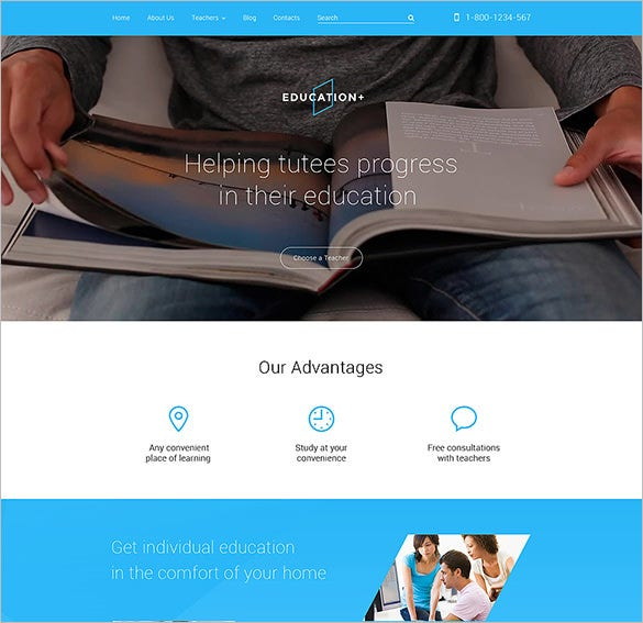 blog theme for education download