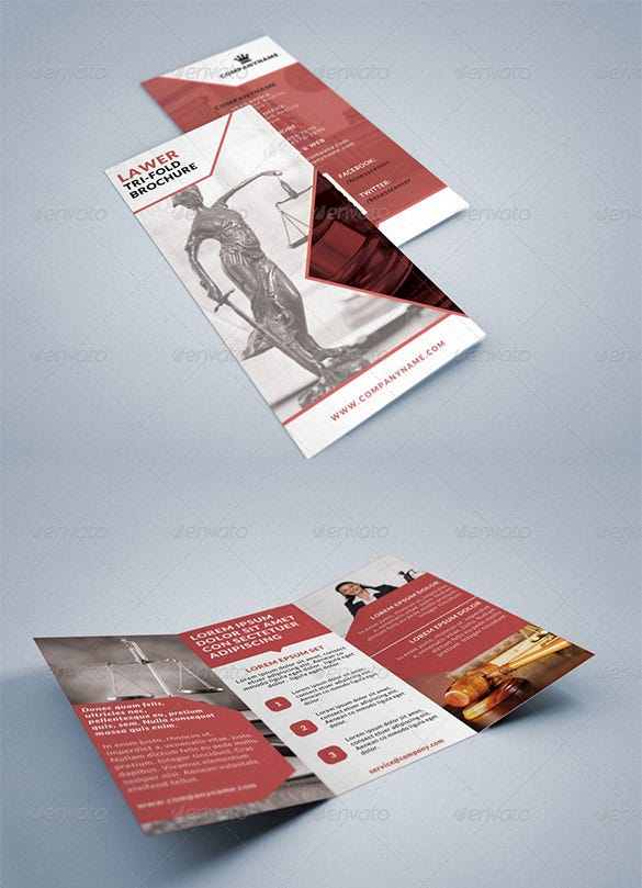 lawer legal consultancy tri fold brochure