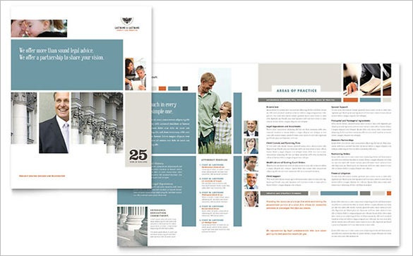 family law attorneys brochure template