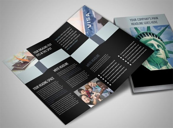 immigration attorney bi fold brochure template