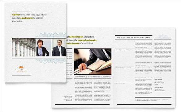 attorney brochure template