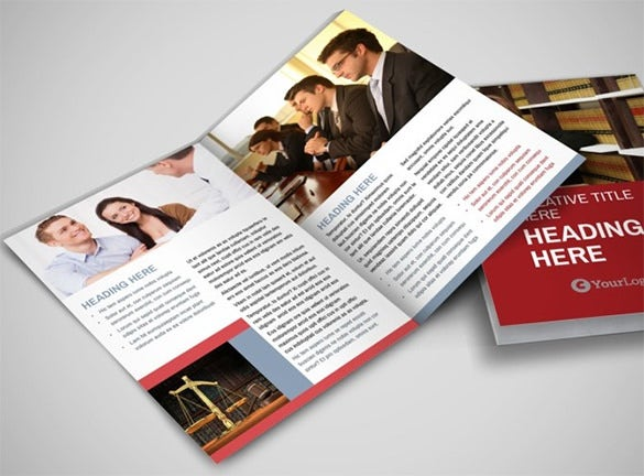 attorney legal service bi fold brochure template