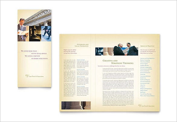 attorney legal services brochure template