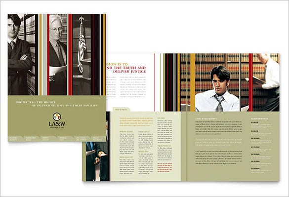 lawyer law firm brochure template