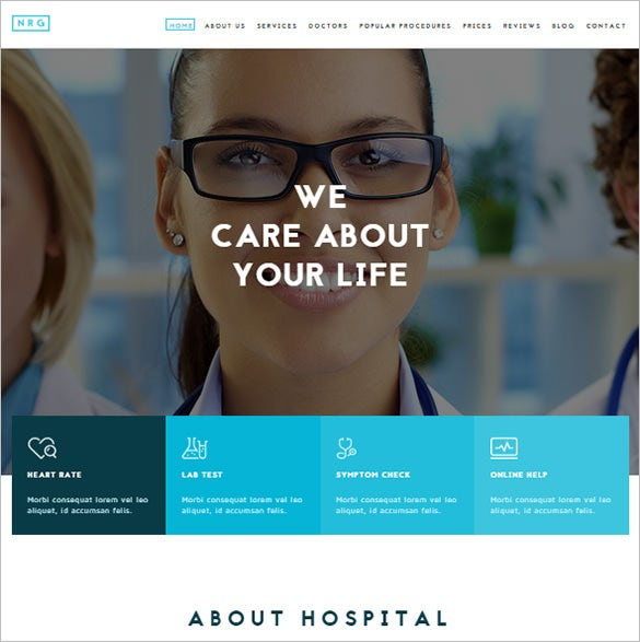 medical hospital healthcare drupal theme