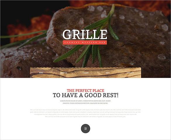 restaurant responsive website template