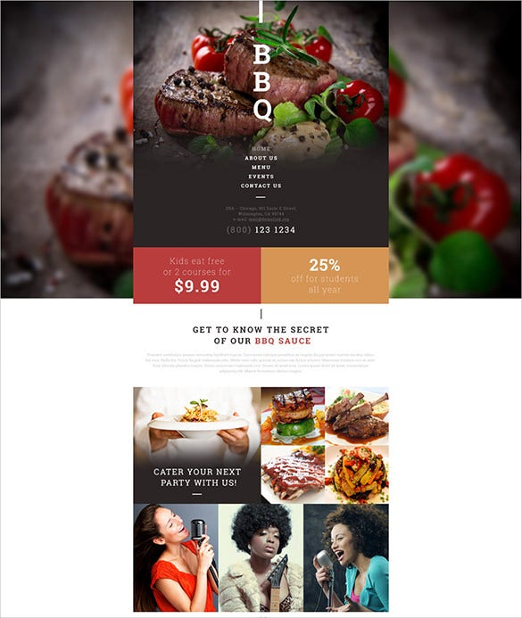 beautiful restaurant website theme