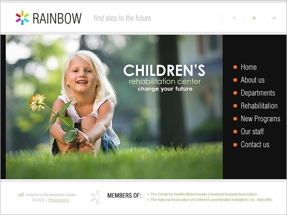 rehabilitation drupal template for children