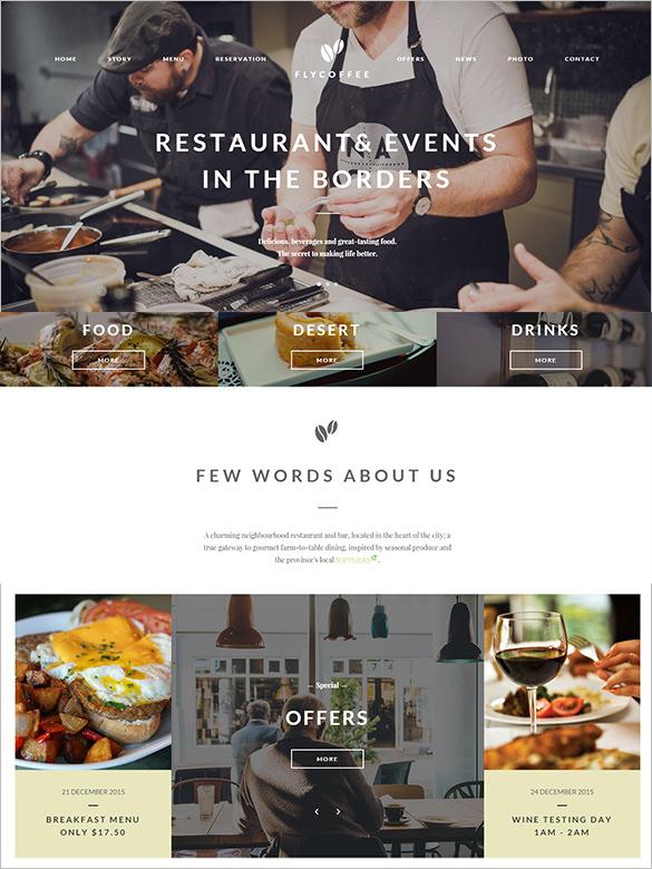 bar restaurant html template