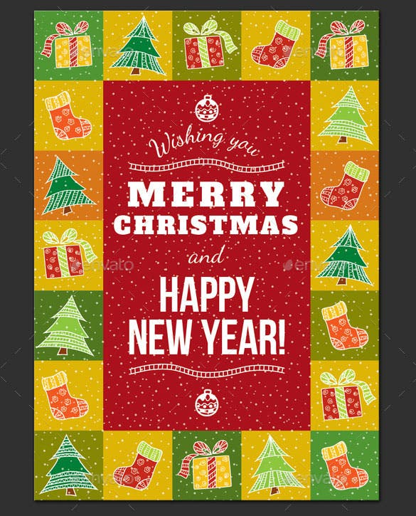 christmas greeting card template eps format