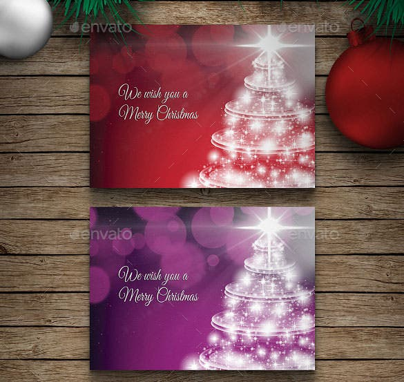 premium christmas greeting card template psd format
