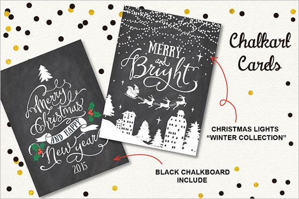 6 christmas greeting cards template set download
