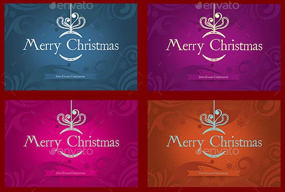 4 christmas greeting card template psd download