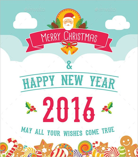 3 christmas greeting card template 2016 download