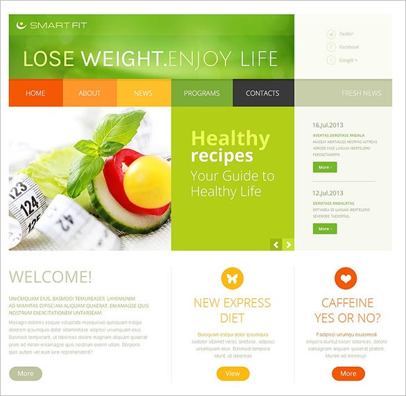 weigh loss health program blog template