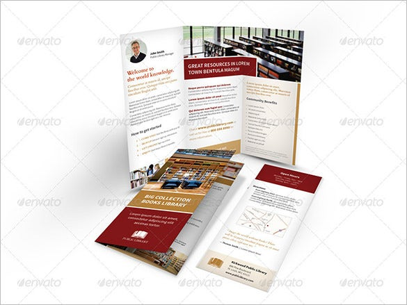 library brochure templates - 24 library brochure template free psd eps ai
