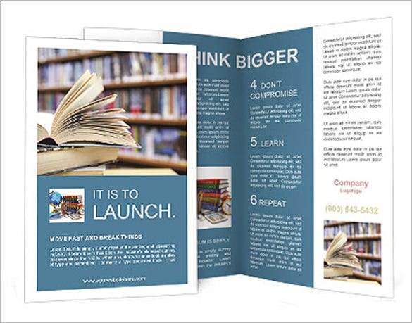 book from library brochure template