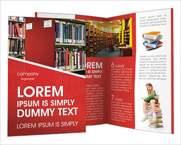 Library Brochure Template Free PSD EPS AI InDesign Word - Library brochure templates