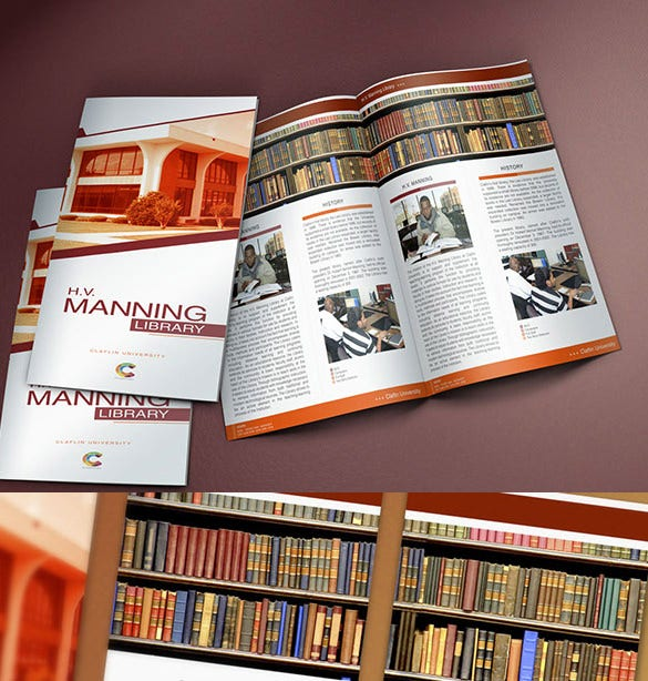 24 library brochure template free psd eps ai indesign word bi fold brochure hv manning library saigontimesfo