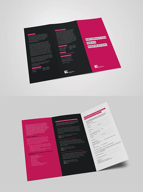 24 library brochure template free psd eps ai indesign word library brochure saigontimesfo